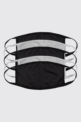 boohoo Mens 5 Pack Multi Plain Fashion Masks, Multi