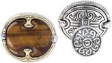 Konstantino Men's Perseus Tiger's Eye Cufflinks with 18k Gold Trim