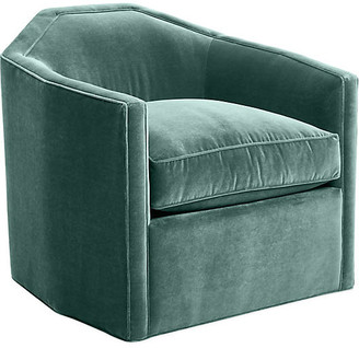Mr & Mrs Howard Speakeasy Swivel Club Chair - Sage Velvet
