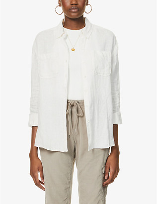 James Perse Casual regular-fit linen shirt