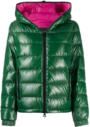 Duvetica Quilted Zipped Puffer Jacket