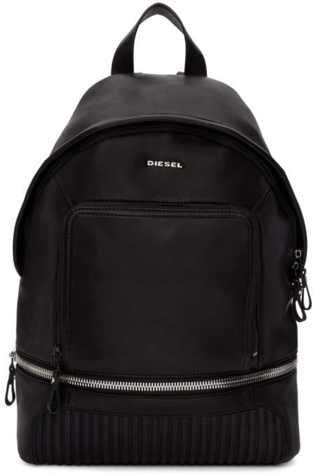 Diesel Black L Ziparound Backpack