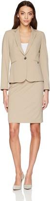 Tahari by Arthur S. Levine Women's Pinstriple Long Sleeve One Button Closure Jacket