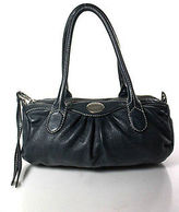 Marc by Marc Jacobs Navy Blue Leather Small Double Strap Satchel Handbag
