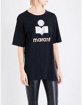 Etoile Isabel Marant Logo-print linen T-shirt