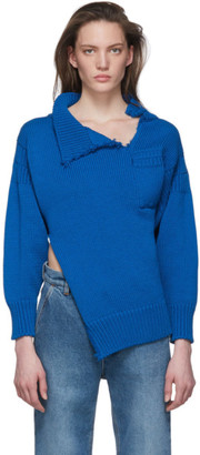 Marni Blue Look 26 Distressed Knit Sweater
