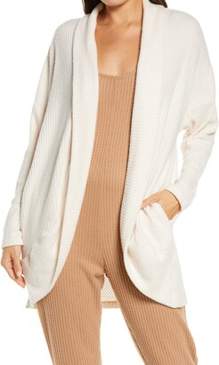 Socialite Cocoon Waffle Knit Cardigan
