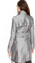 Kenneth Cole Reaction Funnel-Neck Stitched Belted Raincoat
