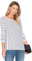 White + Warren Mix Stripe Sweater