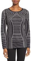 Nic+Zoe Urban Stripe Linen Blend Reversible Knit Top (Regular & Petite)