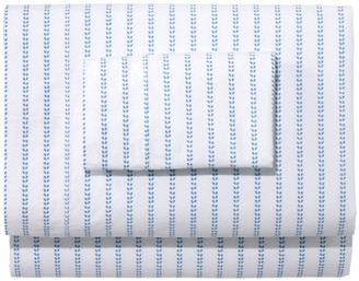L.L. Bean Sunwashed Percale Sheet Collection, Stripe Leaf