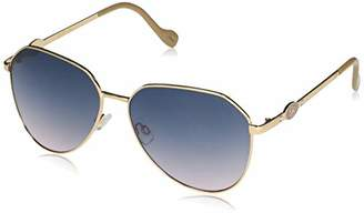 Jessica Simpson Women's J5845 Metal Geometric Aviator Sunglasses with Signature JS Enamel Logo and 100% UV Protection