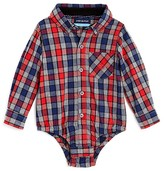 Andy & Evan Infant Boys' Woven Flannel Check Bodysuit - Sizes 3-24 Months
