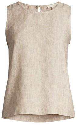 Eileen Fisher Shell Linen Sleeveless Top