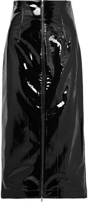 Rosetta Getty Vinyl Midi Skirt