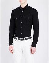 Ralph Lauren Purple Label Mandarin-collar Tailored-fit Pure-cotton Shirt