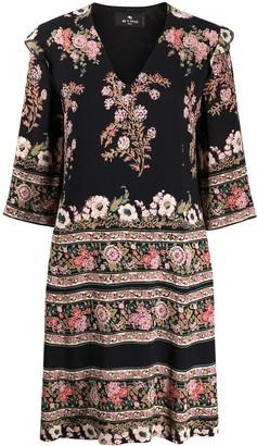 Etro Floral Print Mini Dress