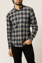 Naked & Famous Denim Herringbone Plaid Reg Shirt