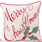 Christmas Shop Décor-43cm Cushion Merry Christmas Ecru/Red