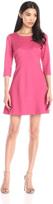Adrianna Papell Women's Solid A-Line Dress