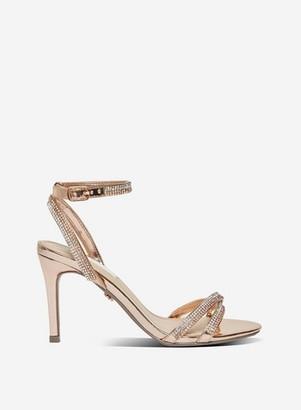 Dorothy Perkins Womens **Showcase Rose Gold 'Shye' Heeled Sandals, Rose Gold