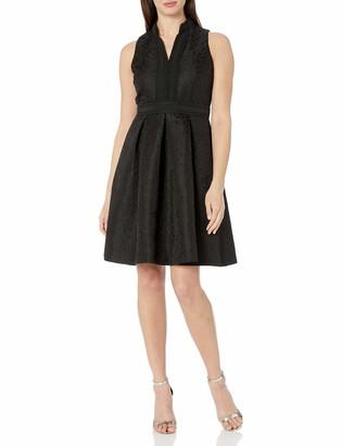 Pappagallo Women's Mock Neck Pleated Skirt Dress