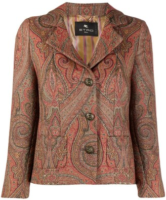 Etro Fitted Paisley Blazer