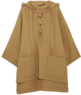 Chloé Iconic Hooded Wool-blend Cape - Camel