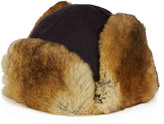Yves Salomon Cotton and rabbit-fur hat
