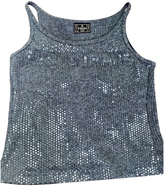 Fendi Grey Wool Top for Women Vintage