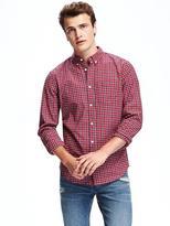 Old Navy Slim-Fit Plaid Oxford Stretch Shirt for Men