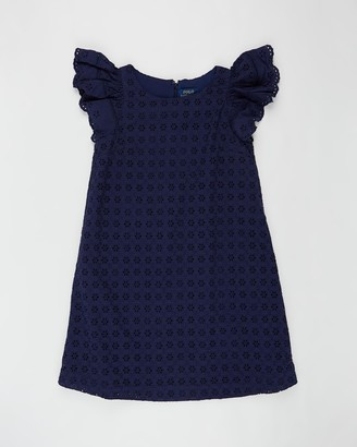Polo Ralph Lauren Woven Cotton Eyelet Dress - Teens
