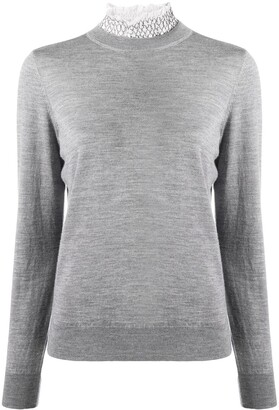 Sandro Funnel-Neck Fitted Jumper