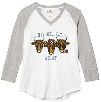 Ariat R.E.A.L. Hay Girl T-Shirt (Grey Heather) Women's Clothing