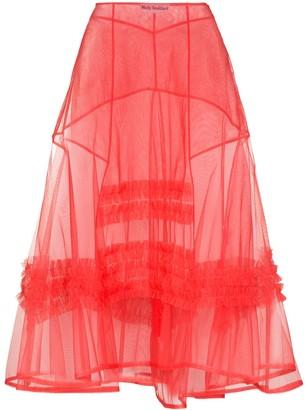 Molly Goddard frilled A-line midi skirt
