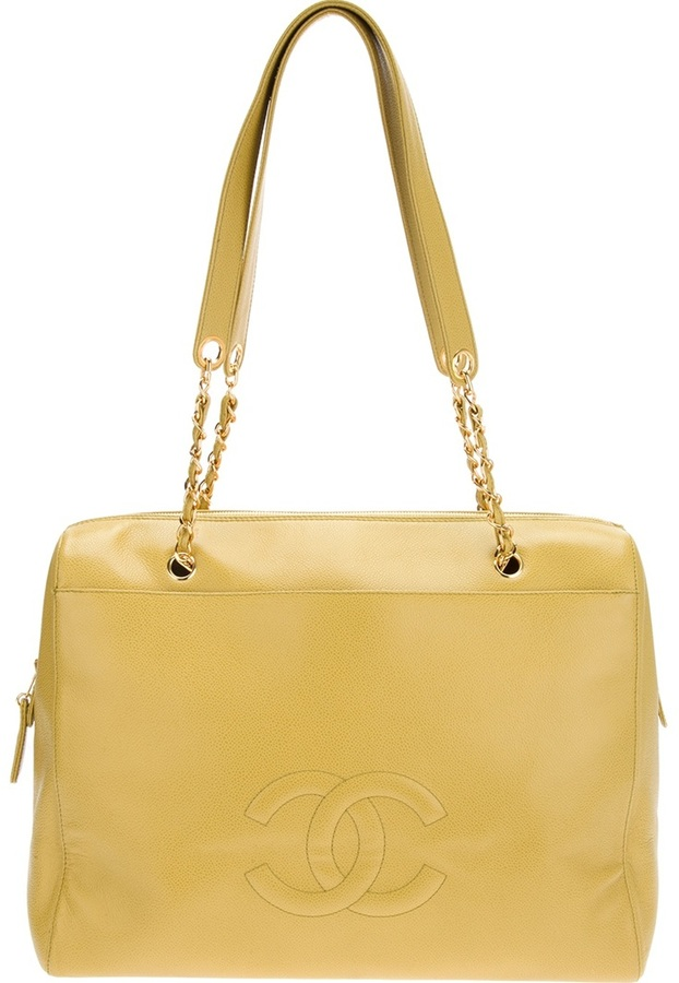 Chanel large chain link tote