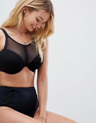 Pour Moi? Pour Moi Beachbound high waist bikini bottom in black