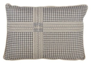 "Saro Lifestyle Crosshatch Embroidered Pillow, 12"" x 18"""