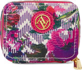 Adrienne Vittadini Floral Print Zip Around Pill Box