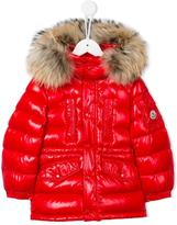 Moncler fur hooded padded coat - kids - Feather Down/Polyamide/Racoon Fur/Polyimide - 5 yrs