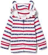 Gap Americana slub bear zip hoodie