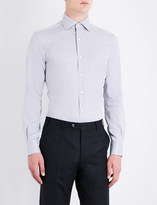 Corneliani Herringbone cotton shirt