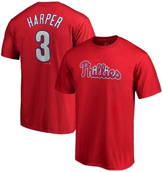 Majestic Youth Bryce Harper Red Philadelphia Phillies Player Name & Number T-Shirt