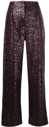 In The Mood For Love Sequinned High-Waist Trousers