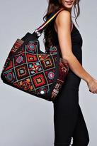 Love Stitch Lovestitch Diamond Patterned Tapestry Tote