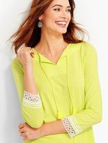 Talbots Lace-Trimmed Tunic