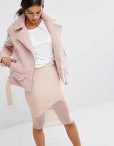 Missguided Faux Shearling Biker Jacket