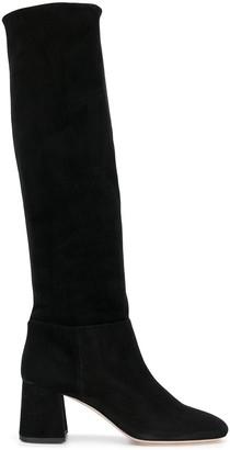 Miu Miu suede knee length boots