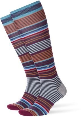 Burlington Men Stripe Knee-Highs - Virgin Wool Blend