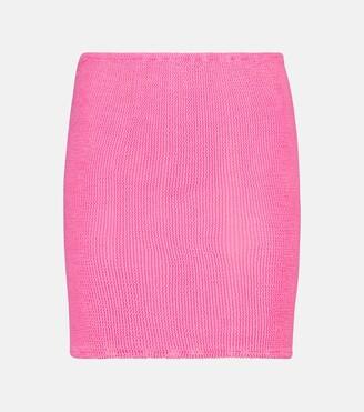 Hunza G Seersucker miniskirt